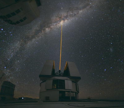 The VLT laser points to the Milky Way
